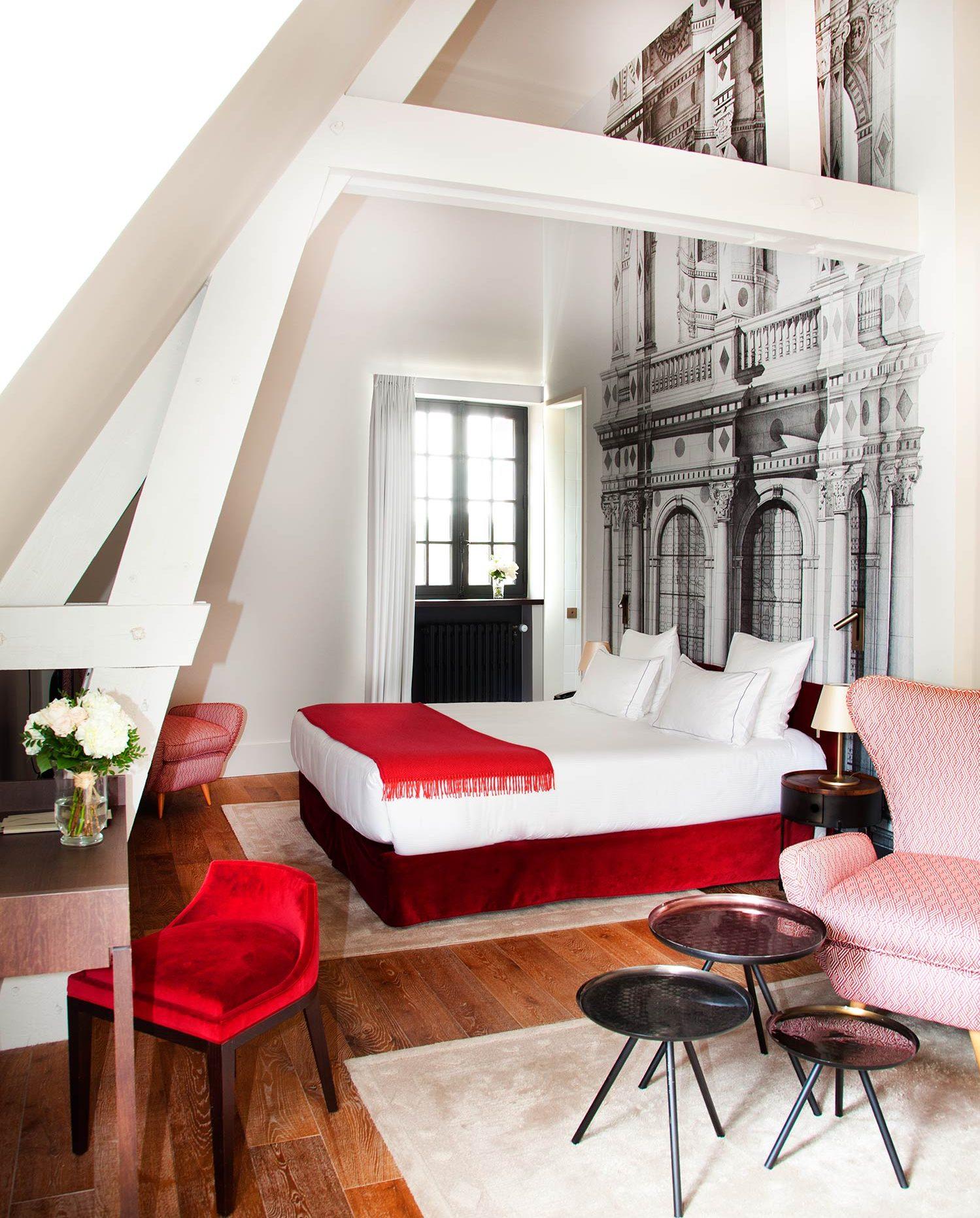 Junior Suite Chambord, at Relais de Chambord.