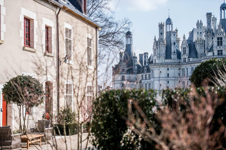Façade et vue sur le château de Chambord