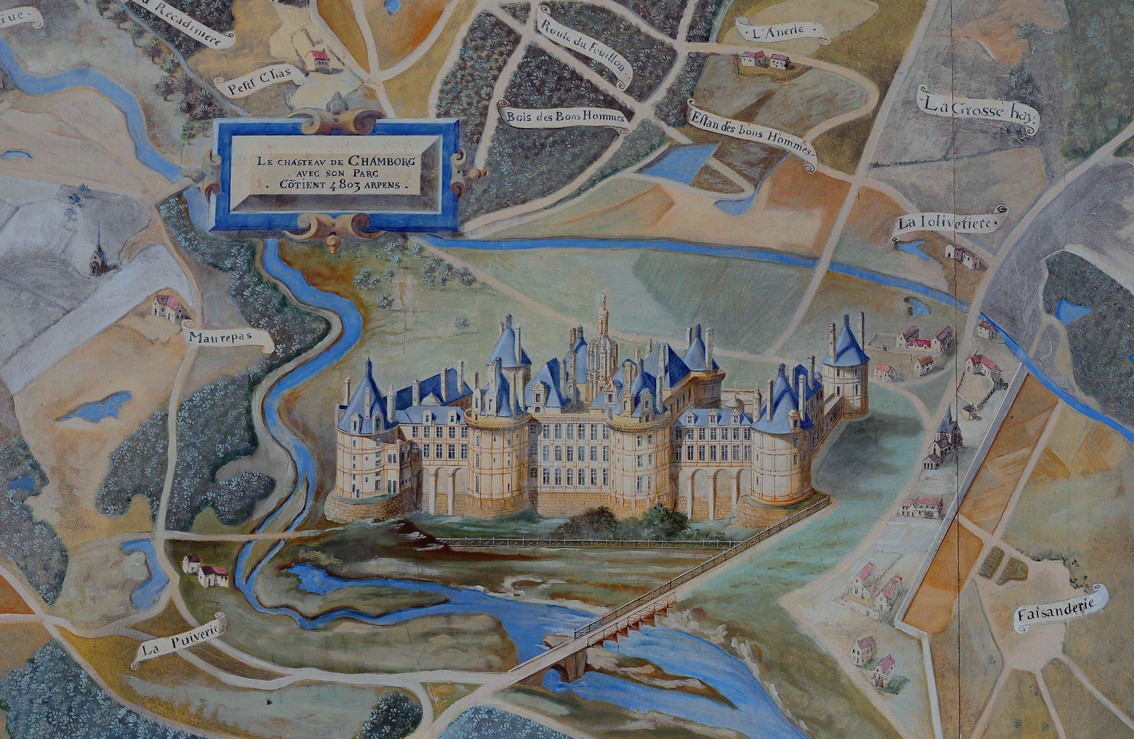 Illustration ancienne du Château de Chambord