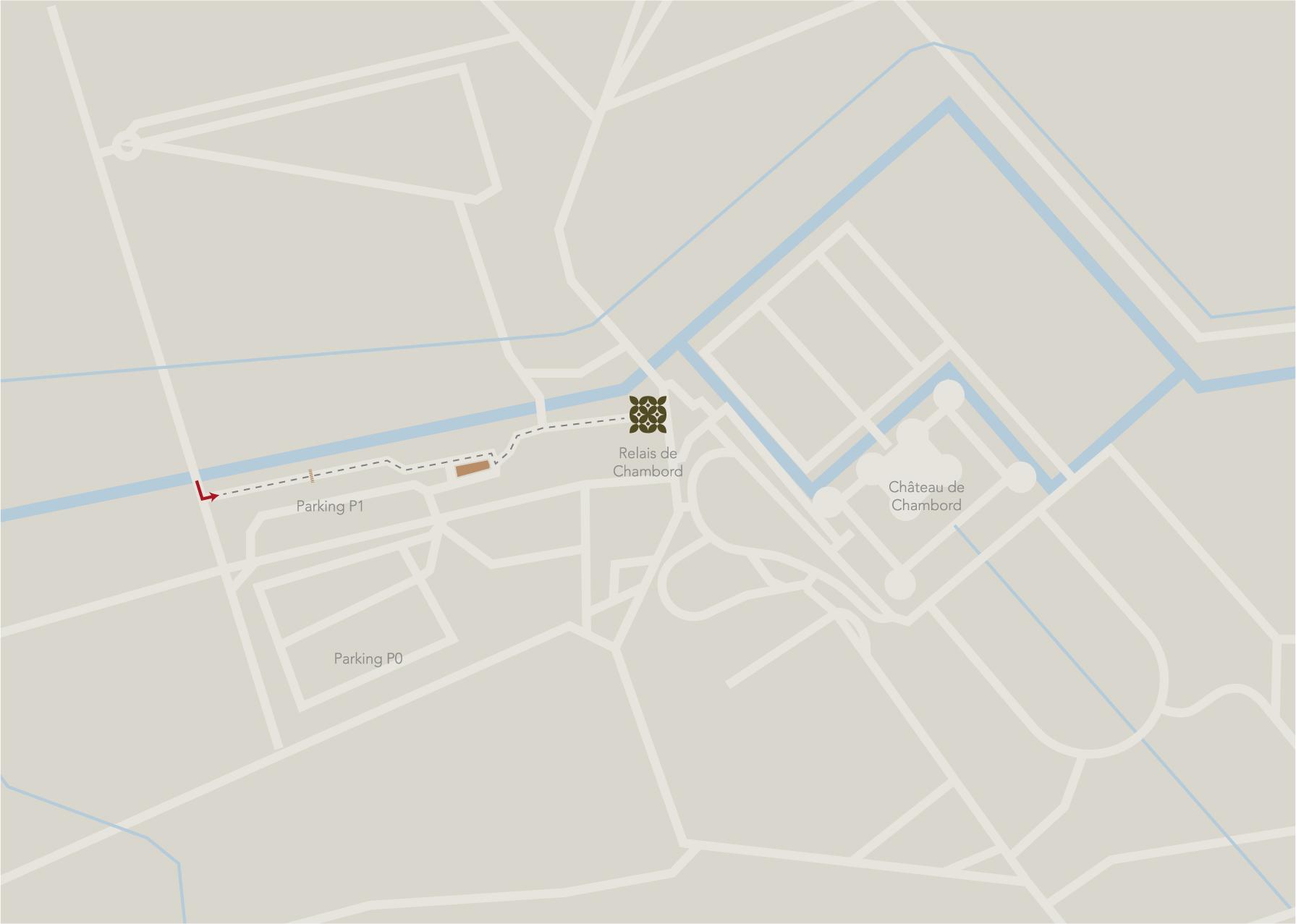 Plan d'accès au Relais de Chambord