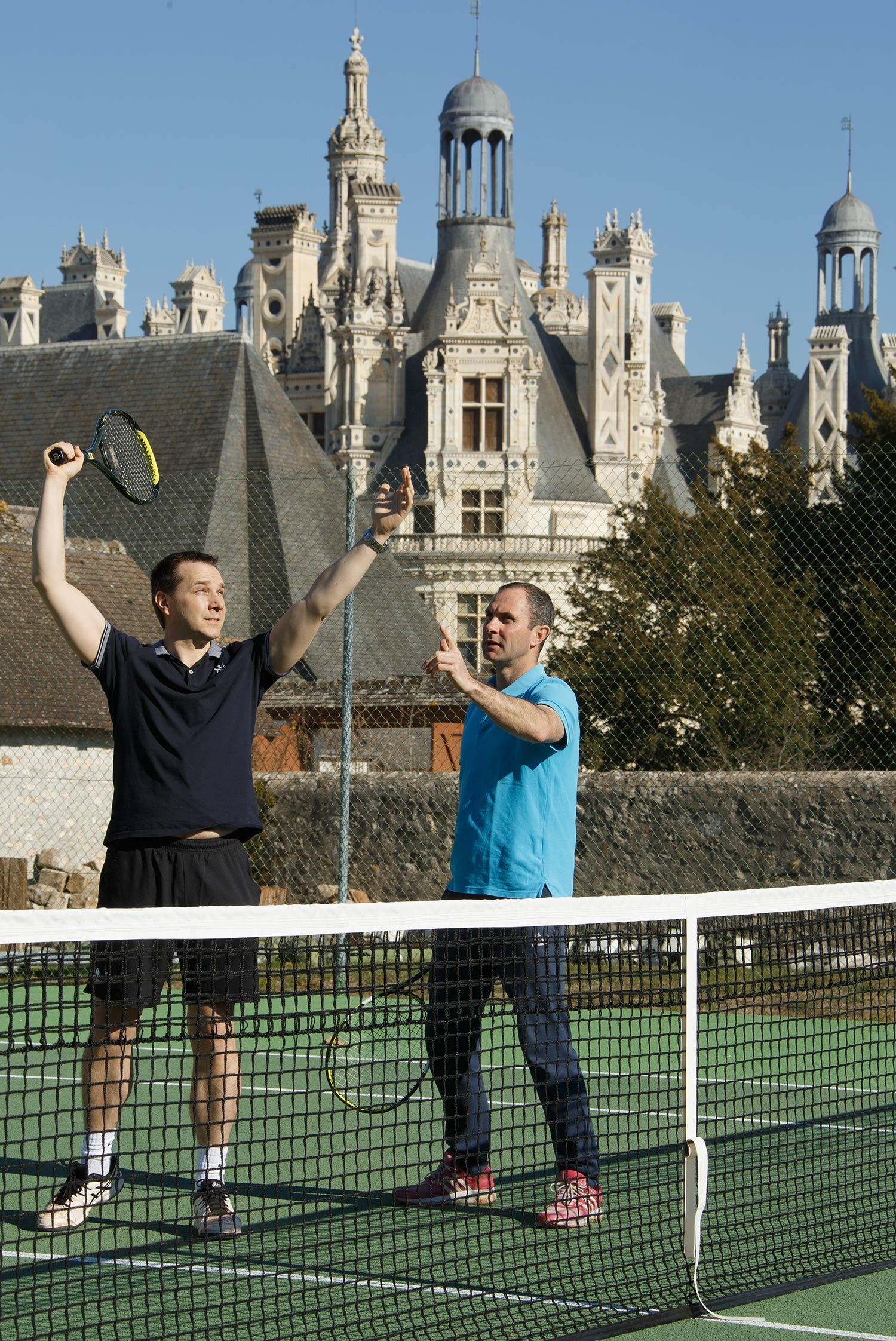 Tennis avec vue sur le château de Chambord