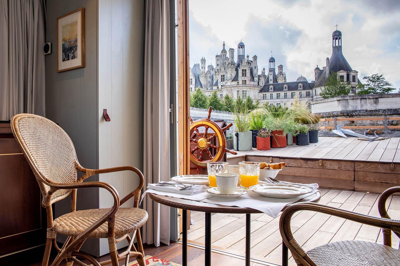 Toue du Relais - Petit déjeuner avec vue sur le château de Chambord