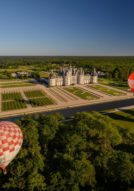 Le château de Chambord vu du ciel
