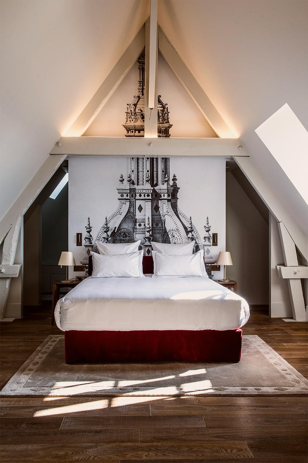 Junior Suite at Relais de Chambord boutique Hotel.