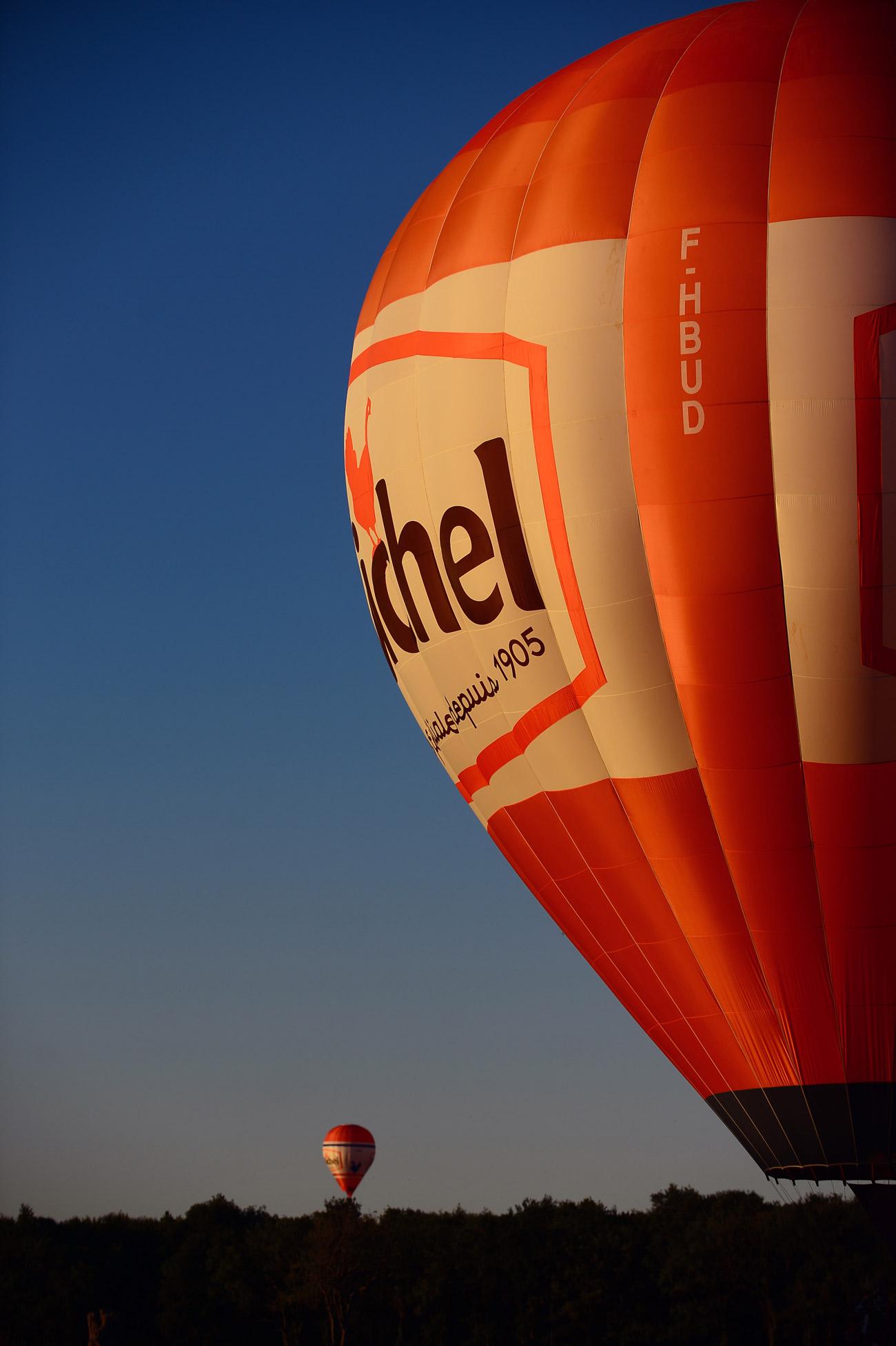 Balloon rides in Chambord.
